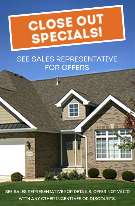Close Out Special - See Sales Representative