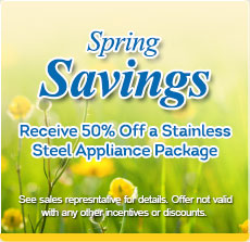 Save $2500 - Receive 50% off a Stainless Steel Appliance Package w/ Purchase of New Home